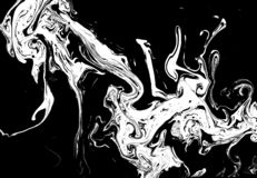 Ink Marble Black And White Grunge Vector Texture. Liquid Abstract Surface For Mockup Design And Background. Artistic Royalty Free Stock Photography