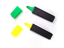 Ink markers. On white background Royalty Free Stock Photography