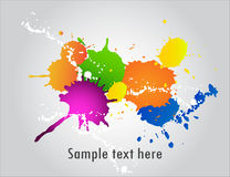Ink. Messy inkblot background with many white spots Stock Images