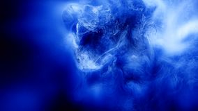 Ink motion water blue swirl space slow motion glow. Ink motion in water. Blue paint animation and swirl. Abstract deep space slow motion glow stock footage