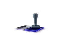 Ink pad and rubber stamp Stock Image