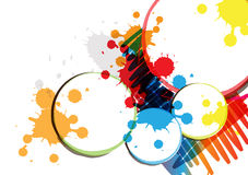 Ink paint banner design Stock Photography