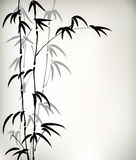 Ink painted bamboo Stock Images