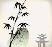 Ink painted bamboo Royalty Free Stock Photos