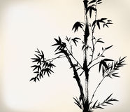 Ink painted bamboo Stock Photo