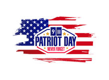 Ink patriot day sign illustration design Stock Image