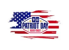 Ink patriot day sign illustration design Stock Image