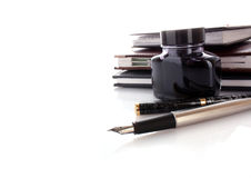 Ink and pen Royalty Free Stock Image