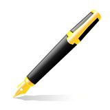 The ink pen of black colour. Stock Image