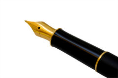 Ink pen, clipping path. Ink pen isolated on white background, clipping path Royalty Free Stock Photos