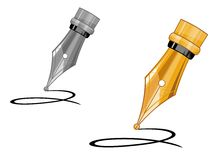 Ink pen icon Stock Images