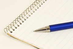 Ink Pen on Steno Pad Royalty Free Stock Image