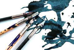 Ink pens. Royalty Free Stock Image