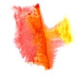Ink pink, yellow  blot splatter background Stock Photos