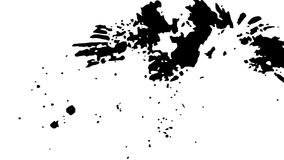Ink Print Distress Background . Grunge Texture. Abstract Black and white illustration. Vector. Stock Photo