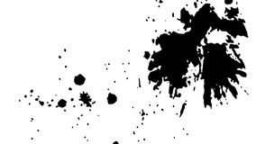 Ink Print Distress Background . Grunge Texture. Abstract Black and white illustration. Vector. Stock Photography
