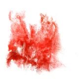 Ink red blot splatter background isolated on white Royalty Free Stock Photos