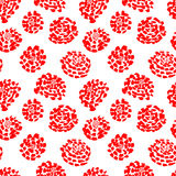 Ink seamless pattern with  flowers in sketchy style. Artistic ba Royalty Free Stock Photo