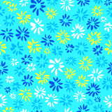 Ink seamless pattern with  flowers in sketchy style. Artistic ba Royalty Free Stock Photography