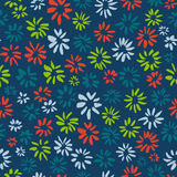 Ink seamless pattern with  flowers in sketchy style. Artistic ba Stock Image