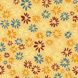 Ink seamless pattern with  flowers in sketchy style. Artistic ba Royalty Free Stock Images