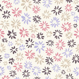 Ink seamless pattern with  flowers in sketchy style. Artistic ba Stock Images