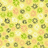 Ink seamless pattern with  flowers in sketchy style. Artistic ba Stock Photos