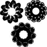 Ink shapes flowers ornament Royalty Free Stock Photography