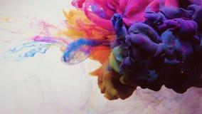 Ink shot motion magenta pink blue fume cloud