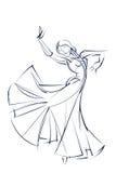 Ink sketch gesture drawing of dancer Stock Images