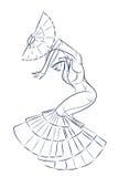 Ink sketch gesture drawing of dancer Stock Photo