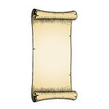 Ink Sketch of an Old Banner with Beige Fill Royalty Free Stock Images