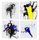 Ink smears. Vector art of painting ink smears royalty free illustration