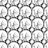 Ink spilled stain geometrical seamless pattern Royalty Free Stock Photography