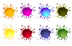 Ink splash. Set of ink splash, various colors vector illustration