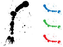Ink splash. Vector illustrated ink splash in various colors Royalty Free Stock Photo