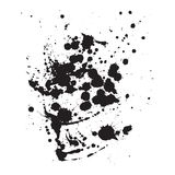 Ink Splash. Black and white vector template royalty free illustration