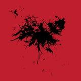 Ink splash blotch, grunge background Stock Images