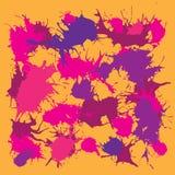 Ink splash blotch, grunge background Stock Photo