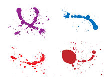 Ink splash illustration. Ink splash various colors illustration Stock Image