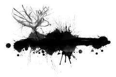 Ink splash landscape Stock Images