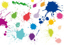 Ink splashes Royalty Free Stock Photos