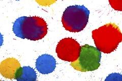 Ink splashes Stock Image