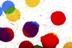 Ink splashes Stock Images