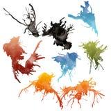 Ink splashes Royalty Free Stock Image