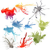 Ink splashes Royalty Free Stock Images
