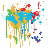 Ink splashes Stock Photography