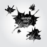 Ink splashes. Few black colored grunge splashes Stock Illustration
