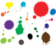 Ink splashes Stock Images