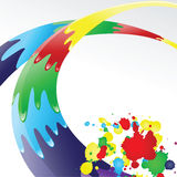 Ink splashes. Color ink splashes.   Vector illustration Royalty Free Stock Photos